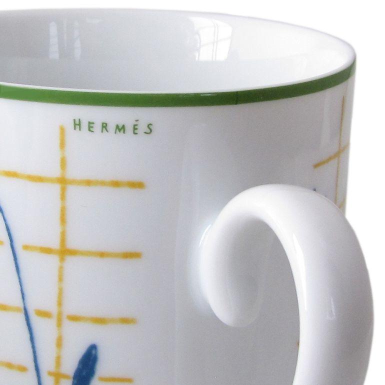 エルメス HERMES マグカップ ウォーク・イン・ザ・ガーデン ブルー A Walk in the Garden MUG BLEU A WALK 43031P シングル 名入れ可有料