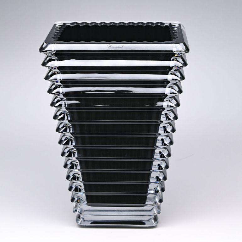 バカラ Baccarat ベース 花瓶 アイ EYE スクエア ブラック S 20cm 2814036