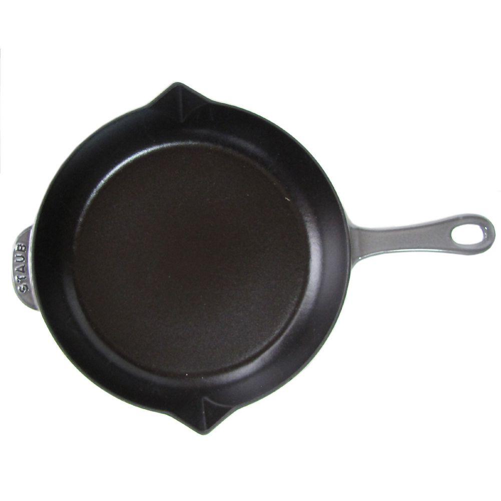ストウブ フライパン 26cm キャストアイアン 10inch 鋳物 ホーロー グラファイトグレー 1222618 (40510-616-0)