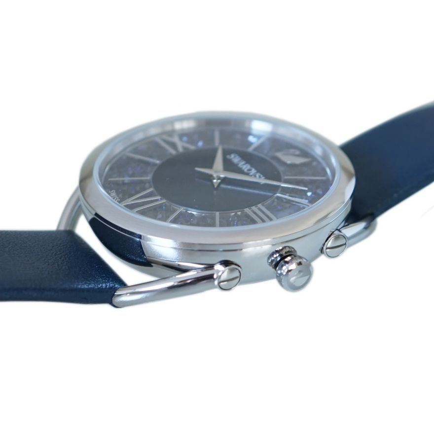 スワロフスキー SWAROVSKI 腕時計 Crystalline Glam ウォッチ レディース ローズゴールド×ネイビーレザーベルト 5537961