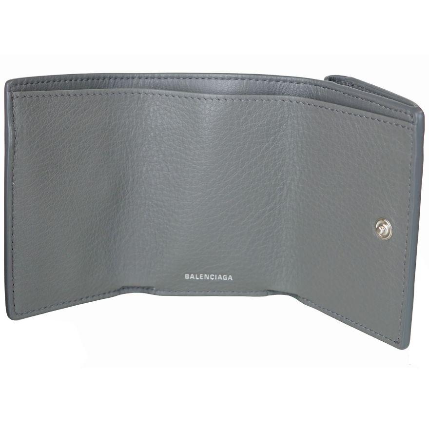 バレンシアガ BALENCIAGA 3つ折り財布 レディース ミニ財布 ペーパー ミニウォレット グリ(グレー) 391446 DLQ0N 1215