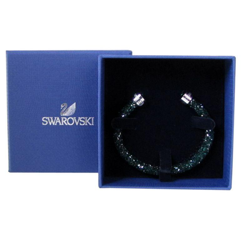 スワロフスキー SWAROVSKI バングル ブレスレット Crystaldust Sサイズ クリスタルダスト グリーン 5292919 ウィークリーセール