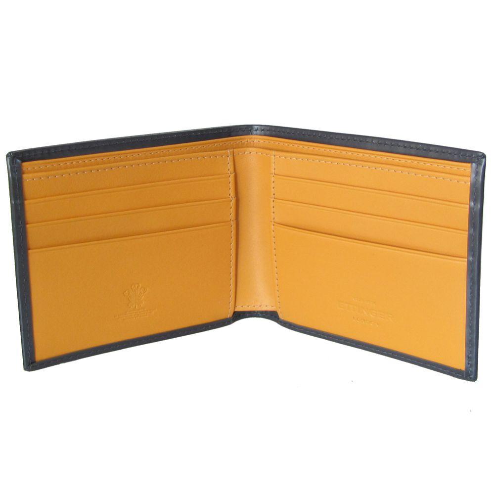 エッティンガー 財布 メンズ 二つ折り財布 小銭入れなし ブライドルレザー マイナーチェンジモデル BH030CJR グレー