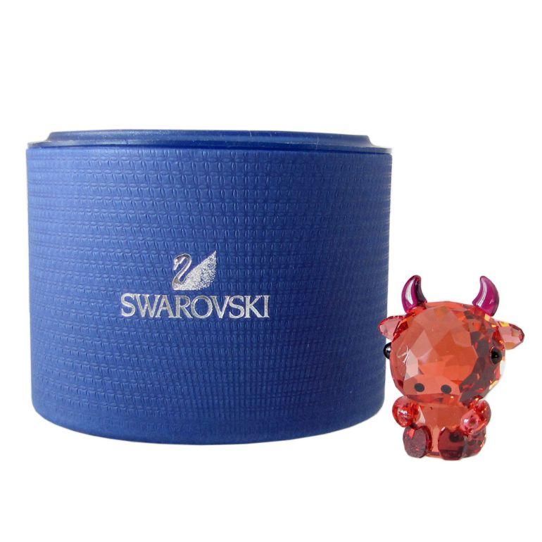 スワロフスキー クリスタルフィギュア 干支 十二支 丑 牛 ウシ DEPENDABLE OX オックス フィギュリン オブジェ 置物 5302556