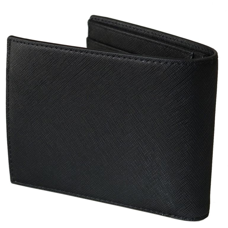 エンポリオ アルマーニ EMPORIO ARMANI 二つ折り財布 メンズ ブラック Y4R165 Y020V 81072 名入れ可有料