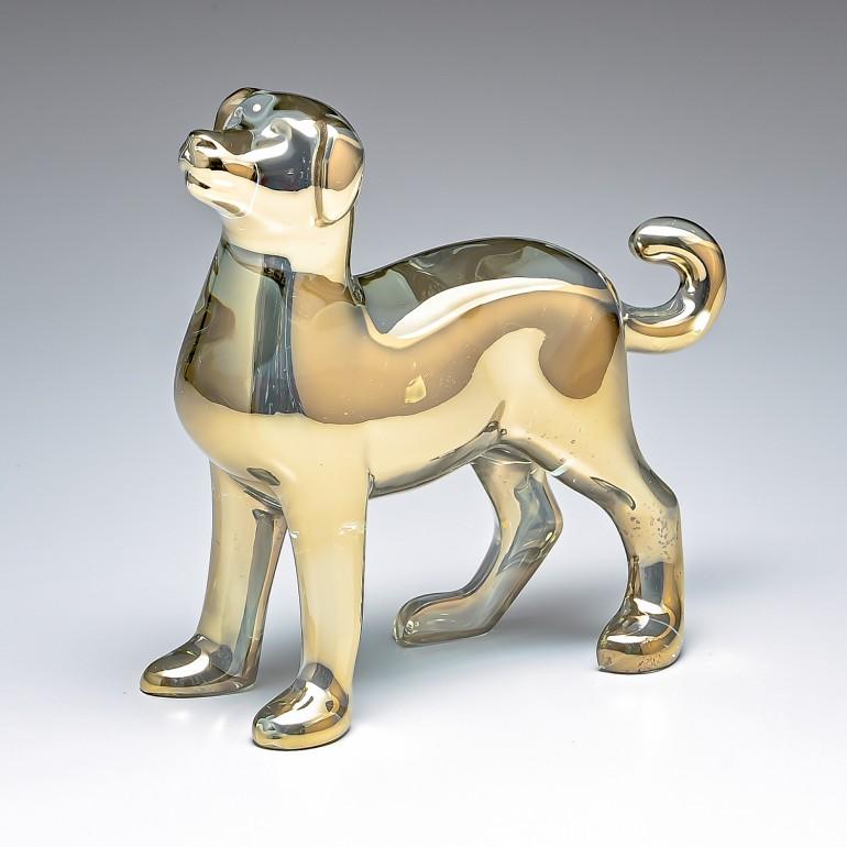バカラ Baccarat クリスタル フィギュア ゾディアック 2018年 DOG ドッグ ゴールド 干支 戌 犬 2811251