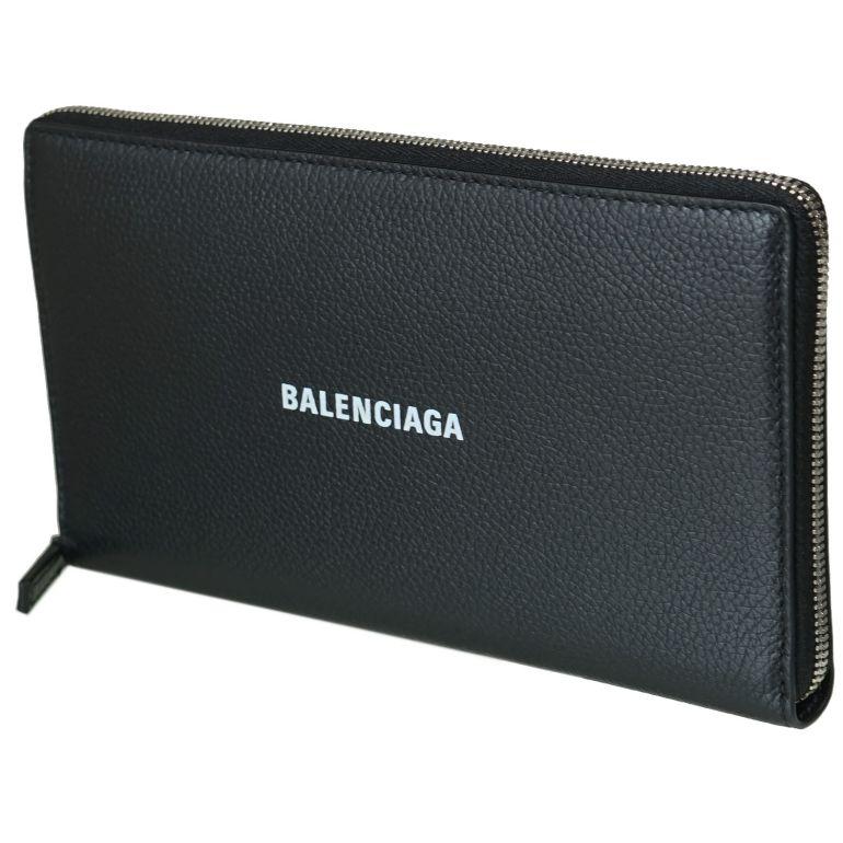 バレンシアガ BALENCIAGA 長財布 メンズ レディース ラウンドファスナー キャッシュ CASH ブラック 594317 1IZI3 1090