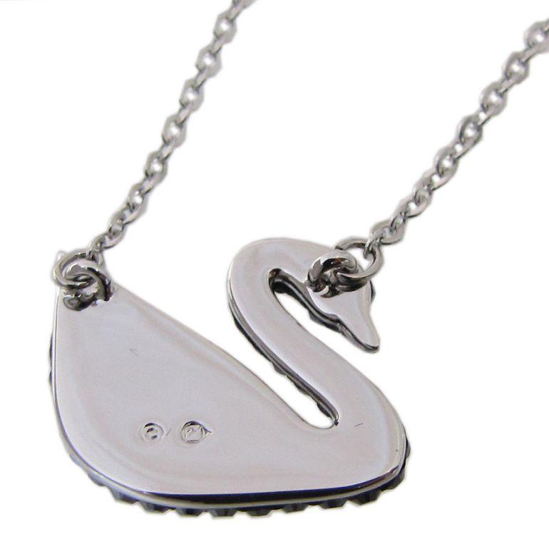 スワロフスキー SWAROVSKI ネックレス Iconic Swan アイコニックスワン ペンダント シルバー ブラック 5347329