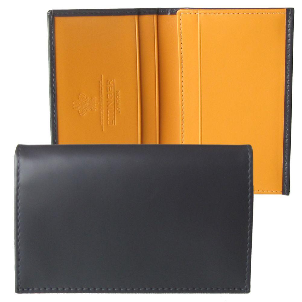 エッティンガー 名刺入れ カードケース メンズ BH143JR グレー 名入れ可有料