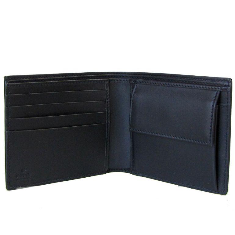 グッチ GUCCI 二つ折り財布 メンズ GGスプリーム ニューウェブ ブラック 408826 KHN4N 1095