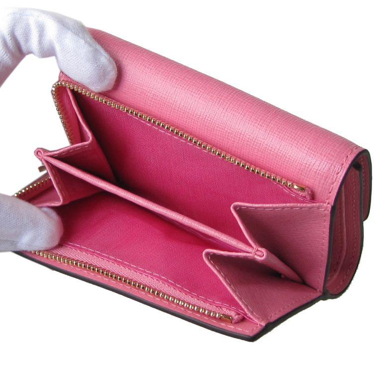 フルラ FURLA バビロン トライフォード 折り財布 コンパクトウォレット 1006834 FLAMINGO フラミンゴピンク PR76 B30 KDR