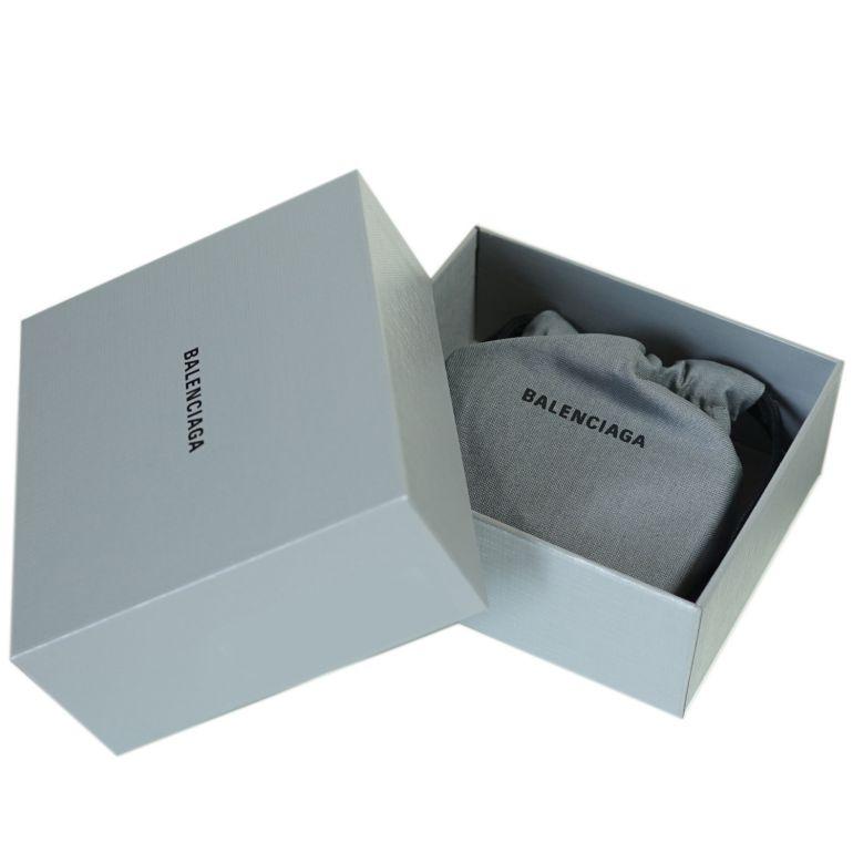 バレンシアガ BALENCIAGA 3つ折り財布 レディース ミニ財布 ミニウォレット スマートウォレット ペーパー PAPIER ブラック 615653 DLQ0N 1000