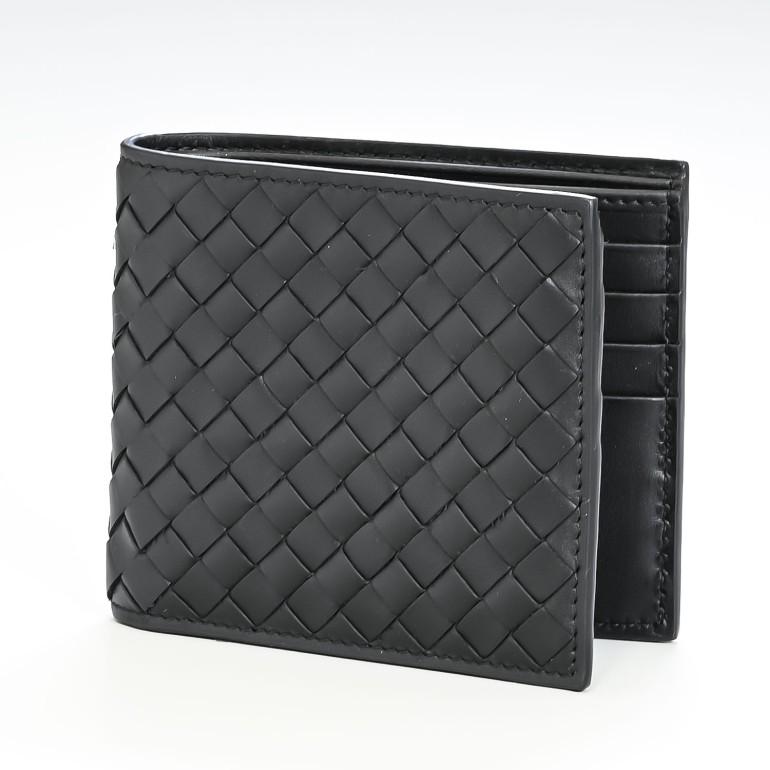 ボッテガヴェネタ BOTTEGA VENETA 二つ折り財布 札入れ 小銭入れなし ブラック 113993 V4651 1000