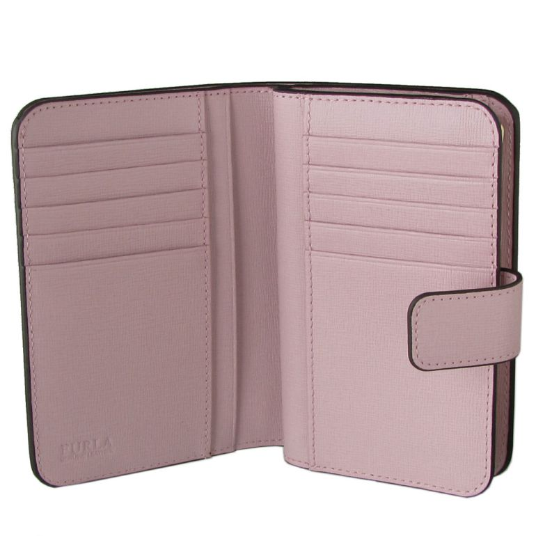 フルラ FURLA バビロン ジップアラウンドM 2つ折り財布 コンパクトウォレット 962981 CAMELIA ピンク PR85 B30 LC4