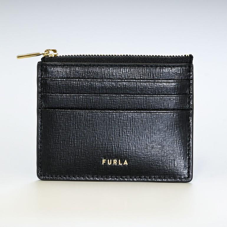 フルラ FURLA コインケース レディース バビロン ミニ財布 スマートウォレット 小銭入れ フラグメントケース ブラック PCZ3UNOB30000O6000 名入れ可有料