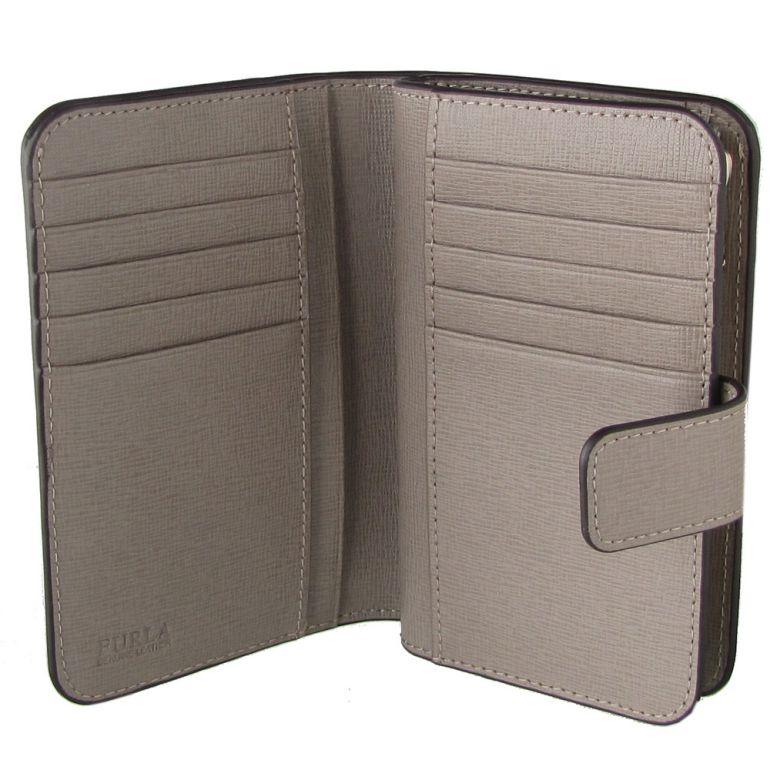 フルラ FURLA バビロン ジップアラウンドM 2つ折り財布 コンパクトウォレット 872838 SABBIA グレー PR85 B30 SBB