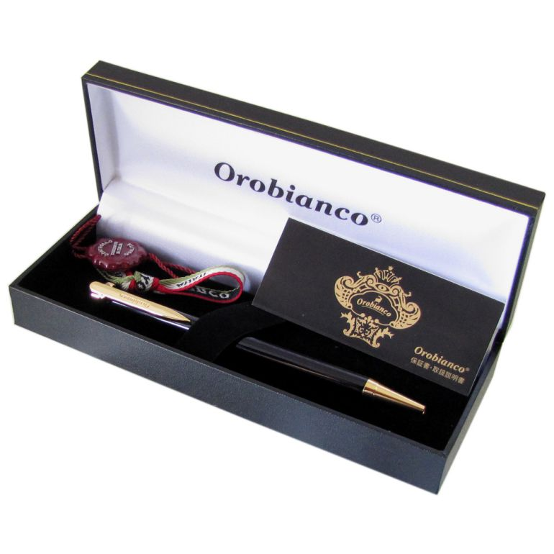 名入れ無料 オロビアンコ ボールペン ラ・スクリヴェリア 新モデル ボールペン ブラック×ゴールド GT 単色