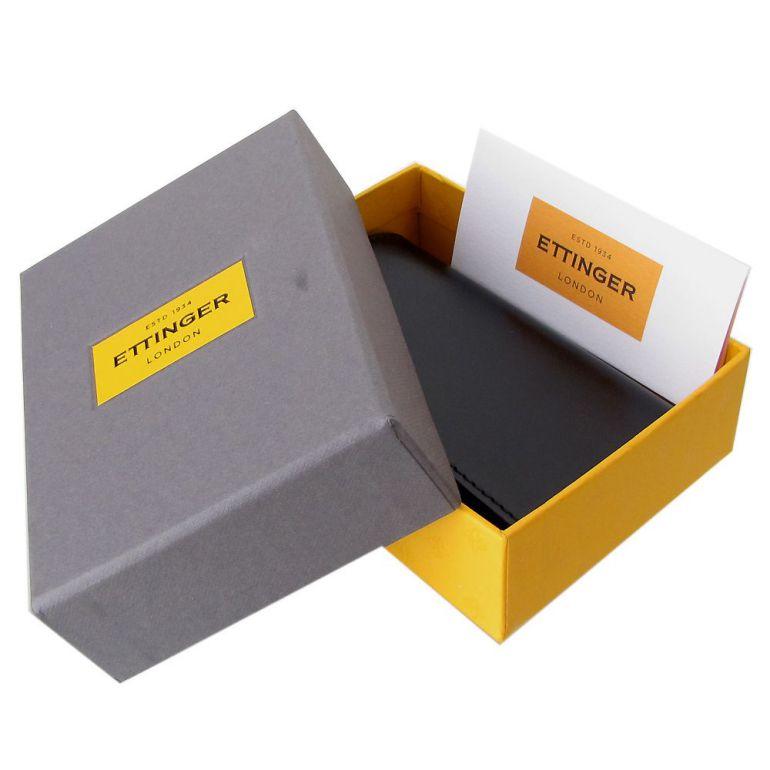エッティンガー ETTINGER コインケース メンズ ロイヤルコレクション 小銭入れ メンズ ST2034DJR TURQUOISE ブラック×ターコイズ 名入れ可有料