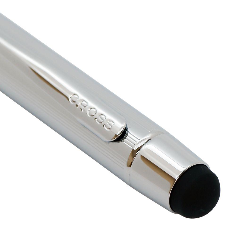クロス ボールペン メンズ レディース TECH3+ テックスリー プラス クローム 多機能ペン マルチペン 複合ペン (黒+赤+シャープペンシル) 名入れ無料