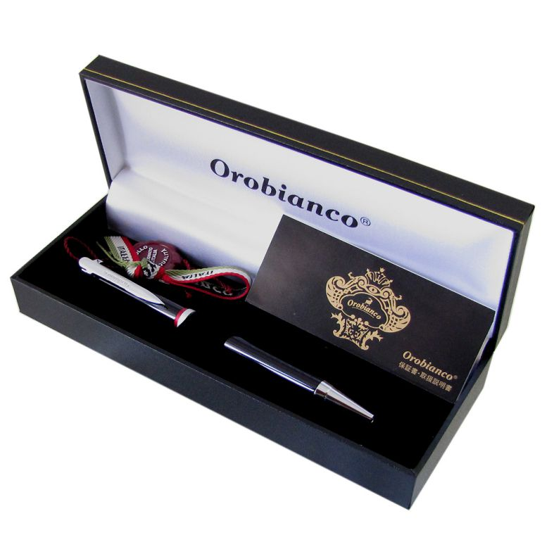 名入れ無料 オロビアンコ ボールペン ラ・スクリヴェリア 新モデル ボールペン ブラック×シルバー CT 単色
