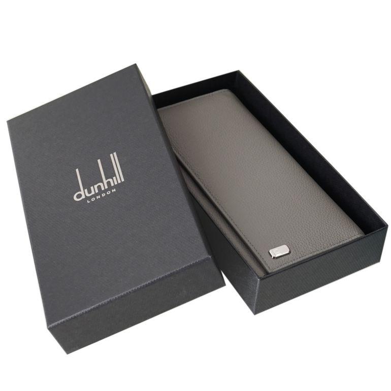【名入れ可有料】 ダンヒル dunhill 長財布 メンズ ベルグレイヴ コートウォレット グレーストーン 19F2100AR083R