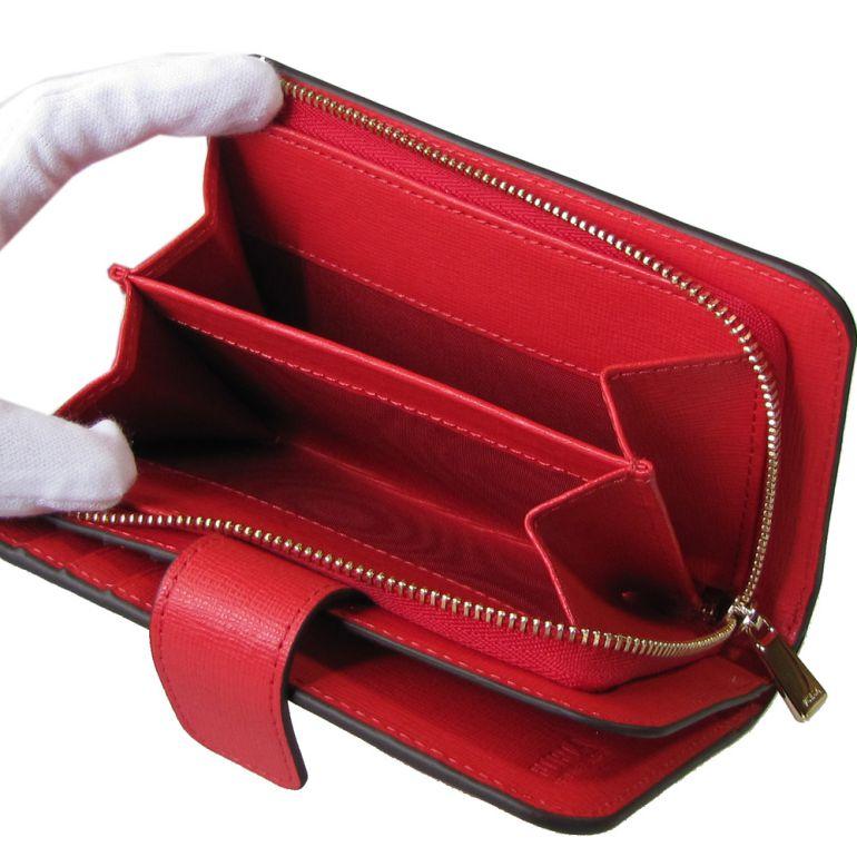 フルラ FURLA バビロン ジップアラウンドM 2つ折り財布 コンパクトウォレット 1013770 KISS レッド PR85 B30 LSD