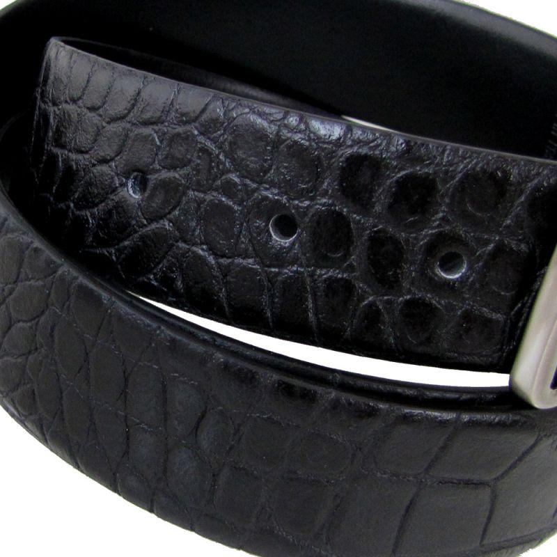 エンポリオ アルマーニ ベルト メンズ ブラック 幅3.2cm ストリンガシステム対応 リバーシブル Y4S222 YLQ8E 88001