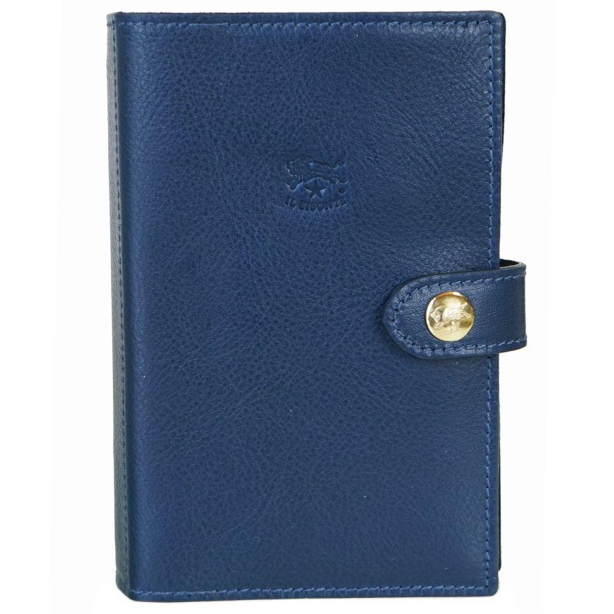 イルビゾンテ IL BISONTE システム手帳 メンズ レディース レザー 2021年 ミニ6穴 手帳 BLUE ブルー F0343 P 866 名入れ可有料 ※名入れ別売り