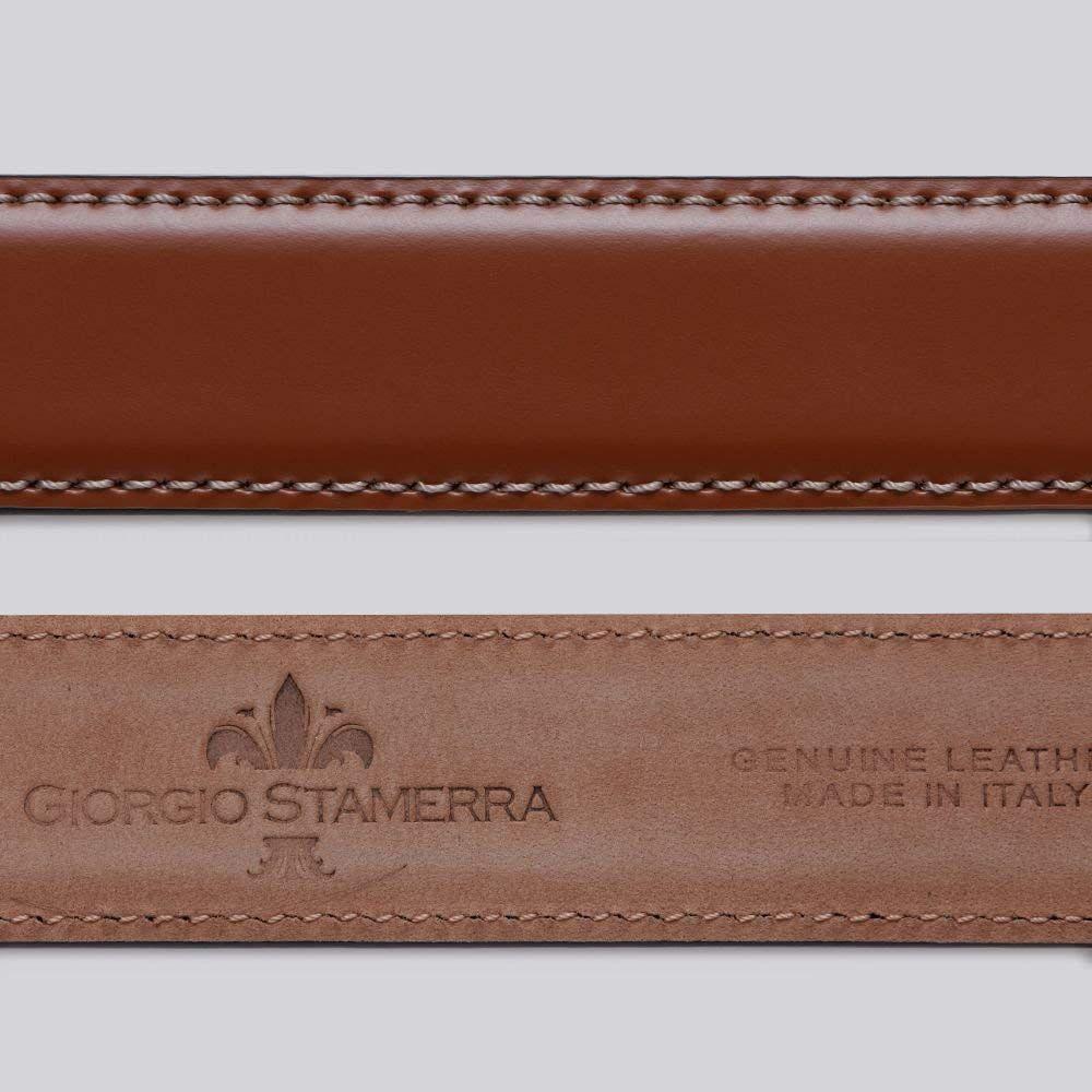 ストリンガ(ズボン用替えベルト) 大きいサイズ バックルなし ジョルジオスタメッラ 推奨ウエスト117cmまで 幅3cm ジョバンニ ヴォルペ ヌバック