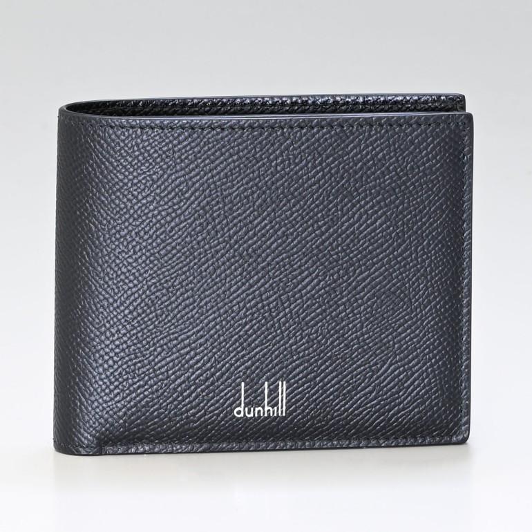 【名入れ可有料】 ダンヒル 二つ折り財布 メンズ CADOGAN カドガン レザー ブラック 18F2320CA001