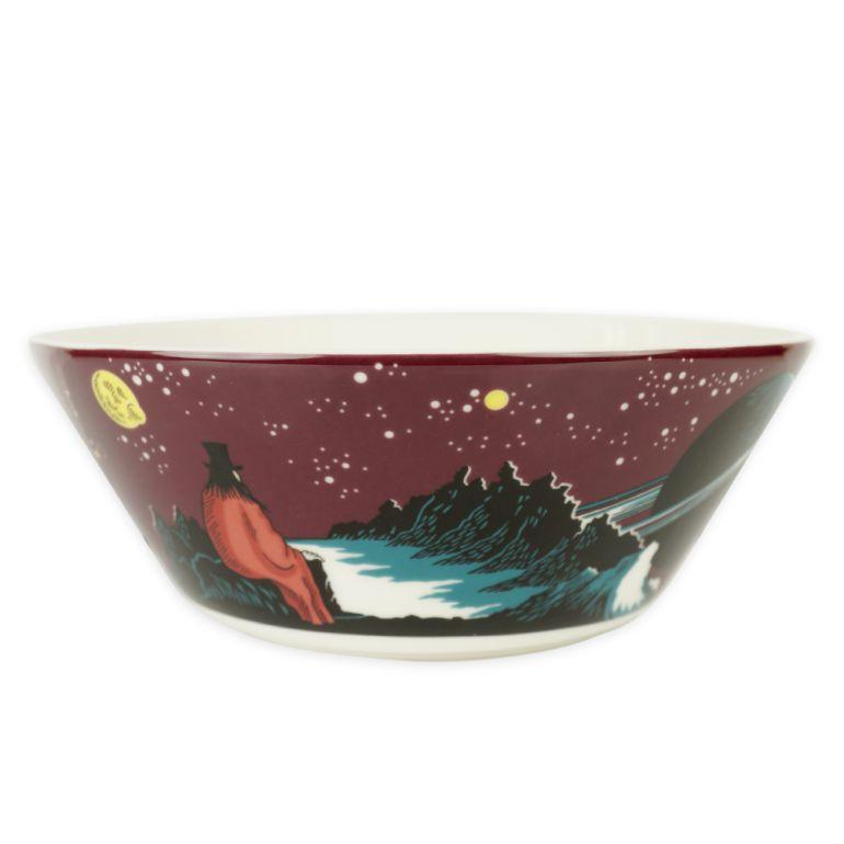 アラビア ボウル 絵皿 15cm ムーミンコレクション 飛行おに Hobgoblin purple 1025545