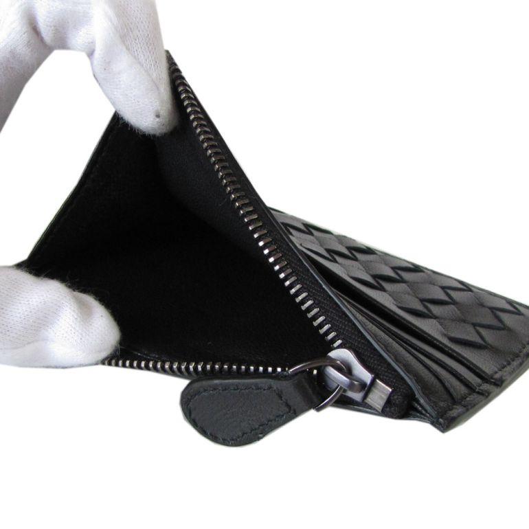 ボッテガヴェネタ BOTTEGA VENETA ミニ財布 スマートウォレット カードケース コインケース イントレチャート ネロ ブラック 367004 V001N 1000 フラグメントケース キャッシュレス