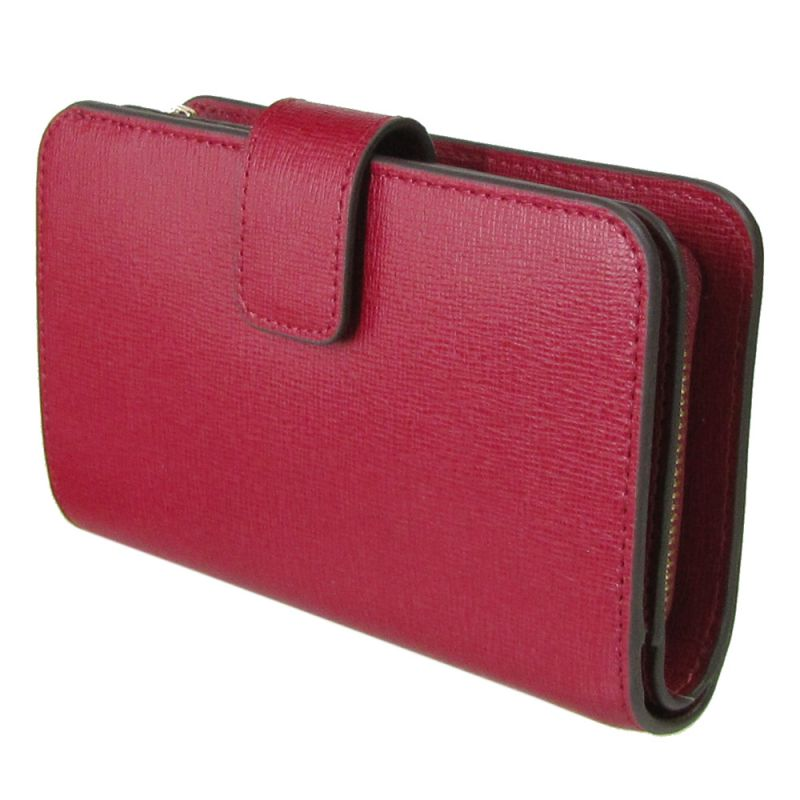 フルラ FURLA バビロン ジップアラウンドM 2つ折り財布 コンパクトウォレット 922605 CILIEGIA レッドPR85 B30 CGQ 名入れ可有料