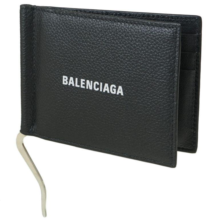 バレンシアガ BALENCIAGA マネークリップ メンズ 二つ折り財布 キャッシュ ビルクリップ Cash Bill Clip ブラック 625819 1IZI3 1090