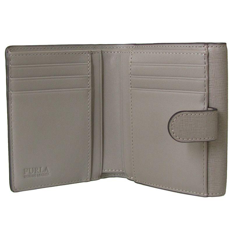 フルラ FURLA バビロン バイフォールド S 2つ折り財布 コンパクトウォレット 978870 SABBIA グレージュPZ57 B30 SBB