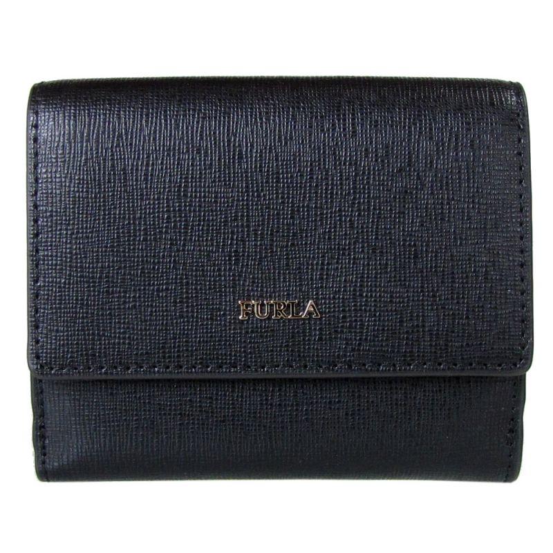 フルラ FURLA バビロン バイフォールド S 2つ折り財布 コンパクトウォレット 978869 NERO ブラックPZ57 B30 O60