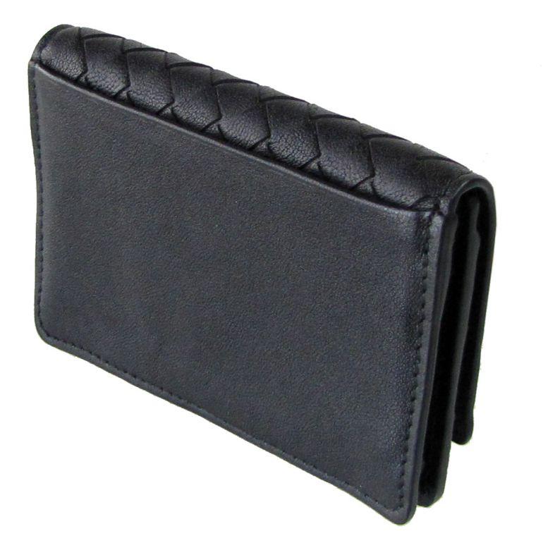 ボッテガヴェネタ カードケース メンズ レディース 名刺入れ イントレチャート ネロ ブラック 133945 VX051 1000