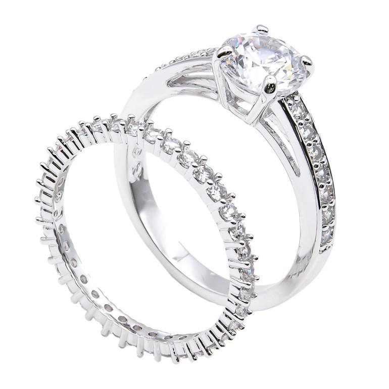スワロフスキー SWAROVSKI リング レディース 指輪 アトラクト Attract リングセット 11号 シルバー 5184979 名入れ可有料
