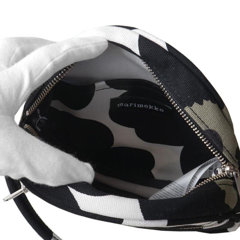 マリメッコ バッグ ショルダーバッグ Pieni Unikko Liia ホワイト×ブラック 048293 030
