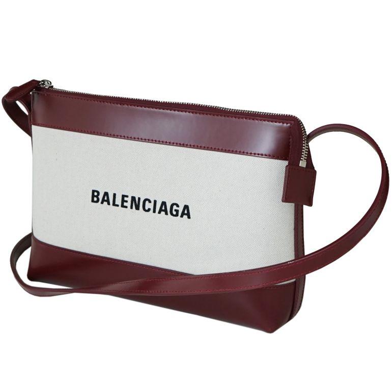 バレンシアガ BALENCIAGA ショルダーバッグ レディース ポーチ ネイビークロス NAVY CROSSBODY ナチュラル/ダークレッド 639497 2HH2N 9265