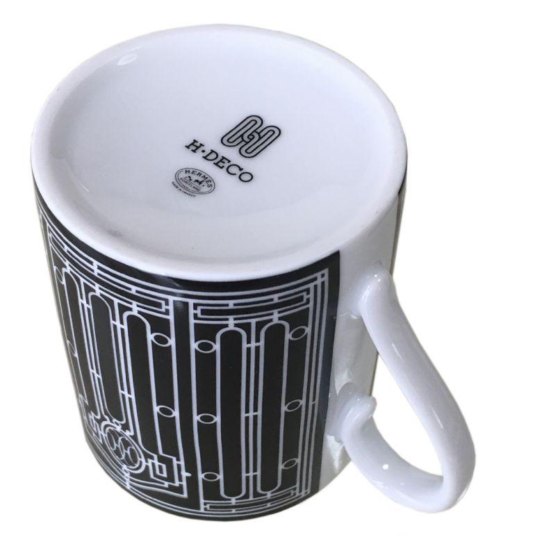 エルメス HERMES H DECO Hデコ アッシュデコ 37131P マグカップ ブラック シングル 300ml 名入れ可有料