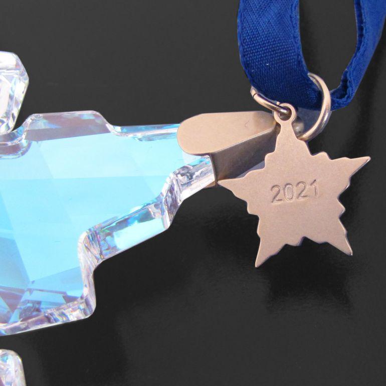 スワロフスキー SWAROVSKI オーナメント ブルーオーロラ 30周年記念オーナメント 2021年度限定生産品 オブジェ インテリア 5596079