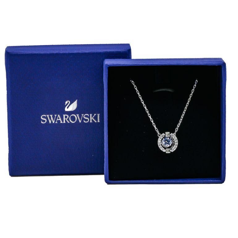 スワロフスキー SWAROVSKI ネックレス レディース SPARKLING DANCE スパークリング ダンス シルバー ブルー 5279425