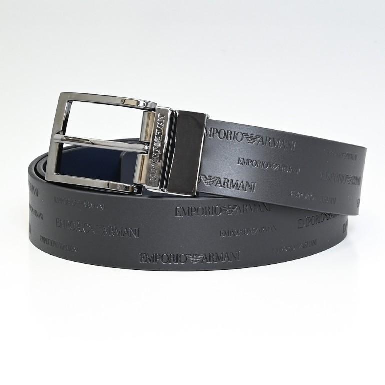 エンポリオ アルマーニ EMPORIO ARMANI ベルト メンズ ブラック 幅3cm ストリンガシステム対応 リバーシブル Y4S426 YTU5J 88045