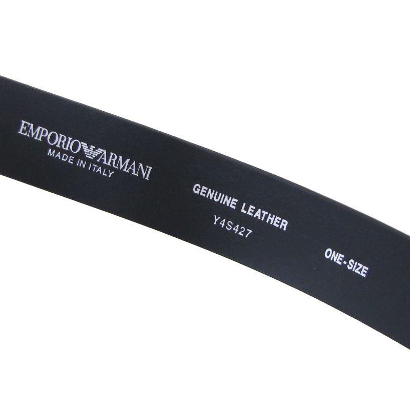 エンポリオ アルマーニ EMPORIO ARMANI ベルト メンズ ブラック 幅3.5cm ストリンガシステム対応 Y4S427 YTU7J 84372