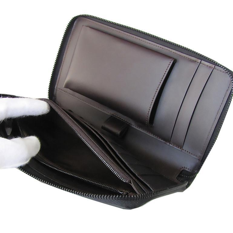 ダンヒル 長財布 トラベルコンパニオン オーガナイザー メンズ シャーシ シングルジップ ブラック L2W5D2A 名入れ可有料