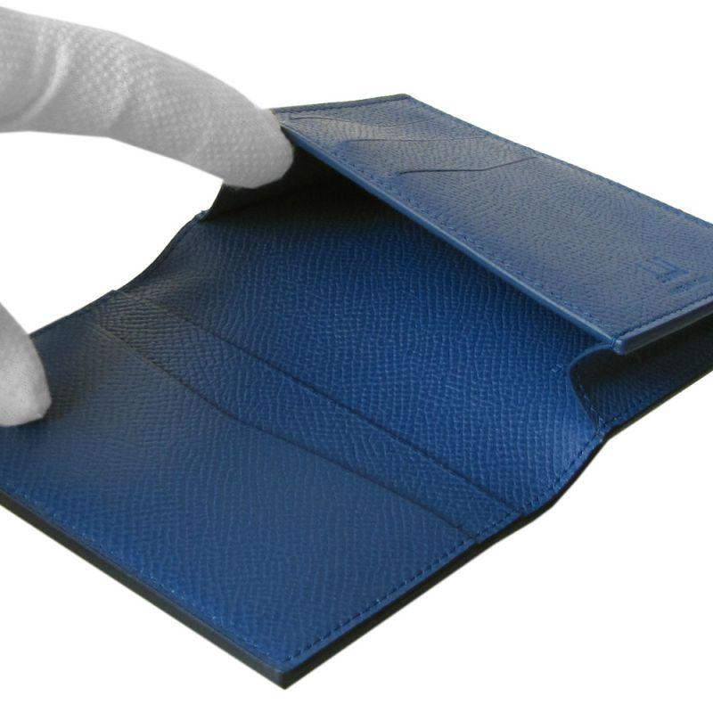 【名入れ可有料】 ダンヒル dunhill 名刺入れ メンズ カドガン カードケース ブルー 18F2470CA410