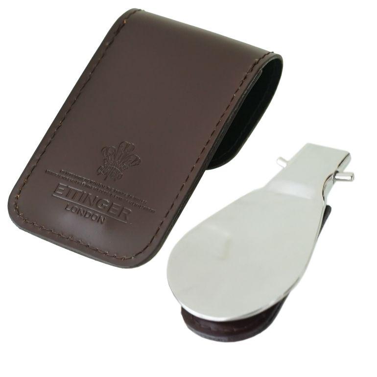 エッティンガー ETTINGER 靴ベラ 携帯ポーチ シューホーン メンズ BH298JR NUT ナッツ