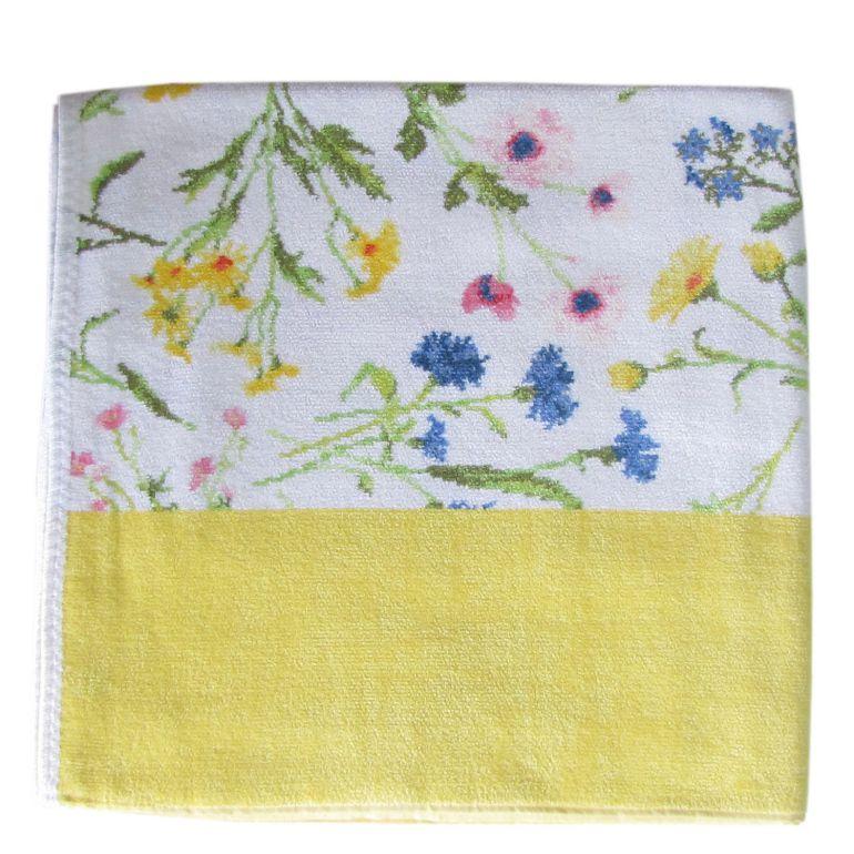 純正ギフトBOX付 フェイラー バスタオル 150cm×75cm Flower Meadow フラワーメドウ イエロー