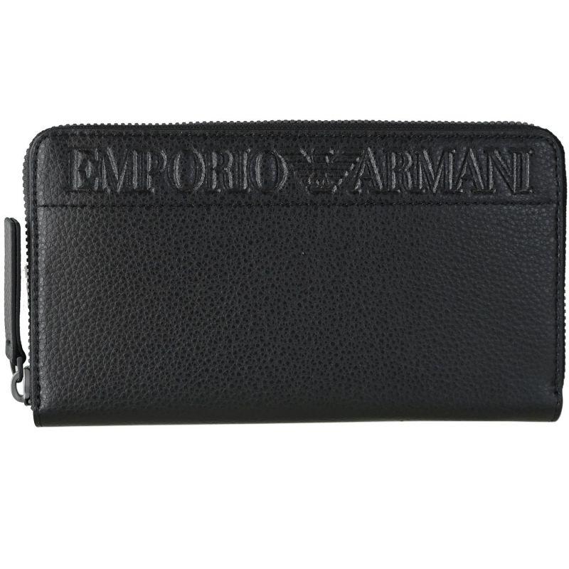 エンポリオ アルマーニ EMPORIO ARMANI 長財布 メンズ ラウンドファスナー ブラック YEME49 YTQ5J 81072 名入れ可有料